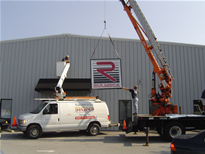 Installation of New Sign Rulmeca HQ