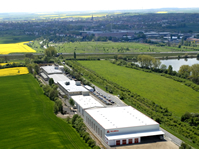 Aerial view of Rulmeca FAA GmbH with new building