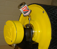 Rulmeca Grease Canister on Small Motorized Pulley