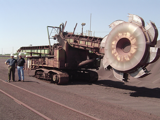 Bucket Wheel Reclaimer at Escanaba with Rulmeca Motorized Pulleys