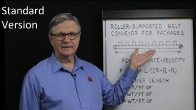 Horizontal Roller Conveyor Belt Pull Calculations