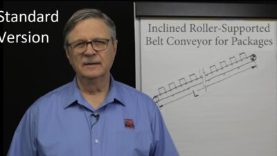 Inclined Roller Conveyor Belt Pull Calculations