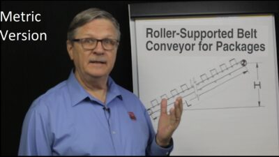 Metric Roller-Supported Conveyor for Packages